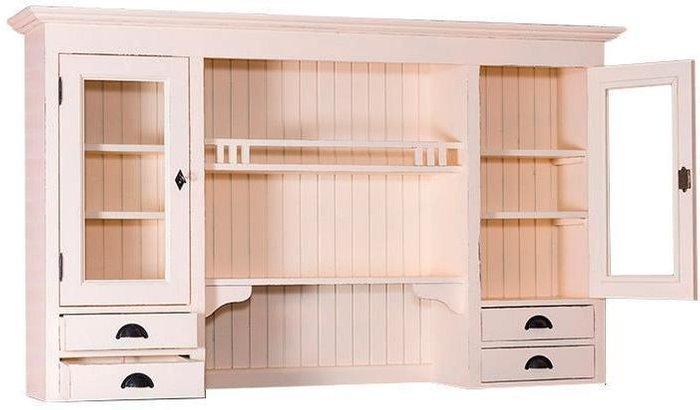 Верх буфета Брюгге с двумя стеклянными дверьми и ящиками