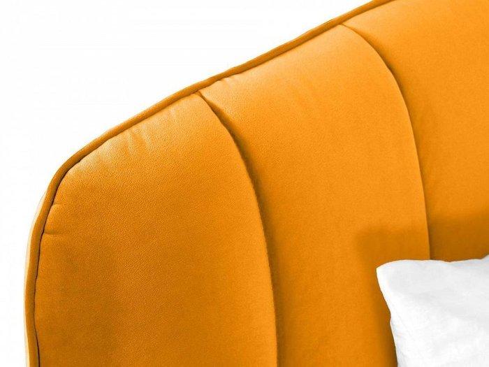 Кровать Amsterdam 160х200 горчичного цвета