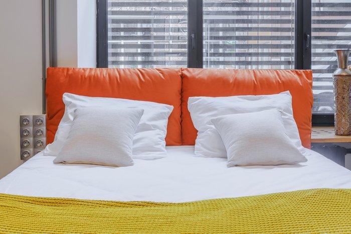 Кровать Trazimeno 160х200 коричневого цвета