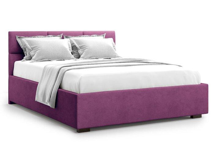 Кровать Bolsena 160х200 пурпурного цвета с подъемным механизмом