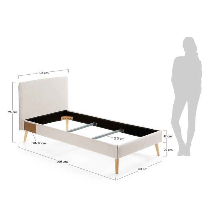 Кровать Lydia 90х190 бежевого цвета
