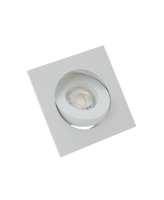 Точечный встраиваемый светильник белого цвета