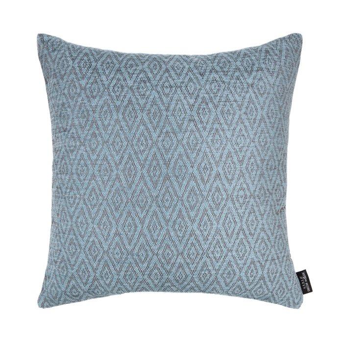 Декоративная подушка zoom rhombus blue голубого цвета