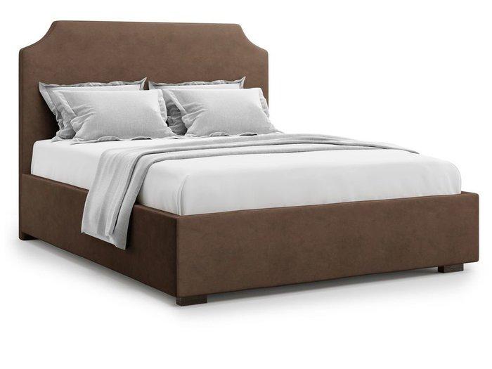 Кровать Izeo с подъемным механизмом 140х200 коричневого цвета