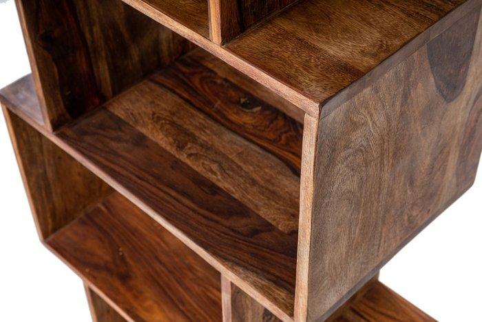 Стеллаж Honeycomb из дерева коричневого цвета