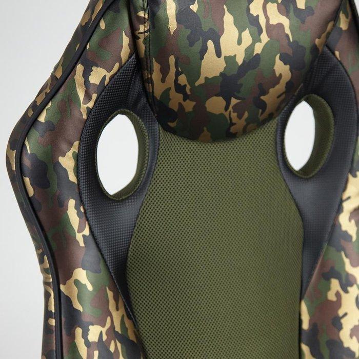 Кресло офисное Racer GT Military зеленого цвета