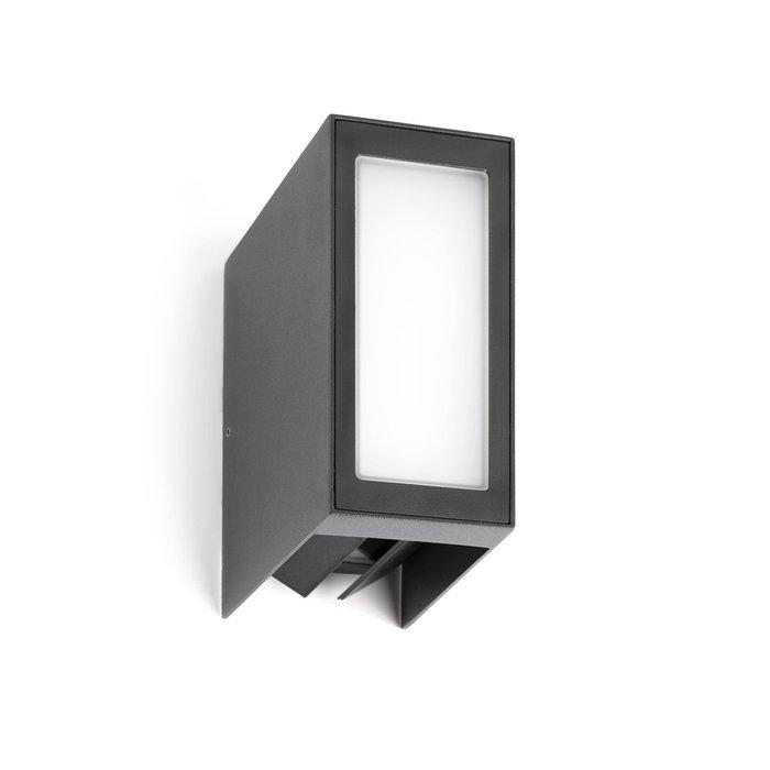 Уличный настенный светильник LOG темно-серого цвета