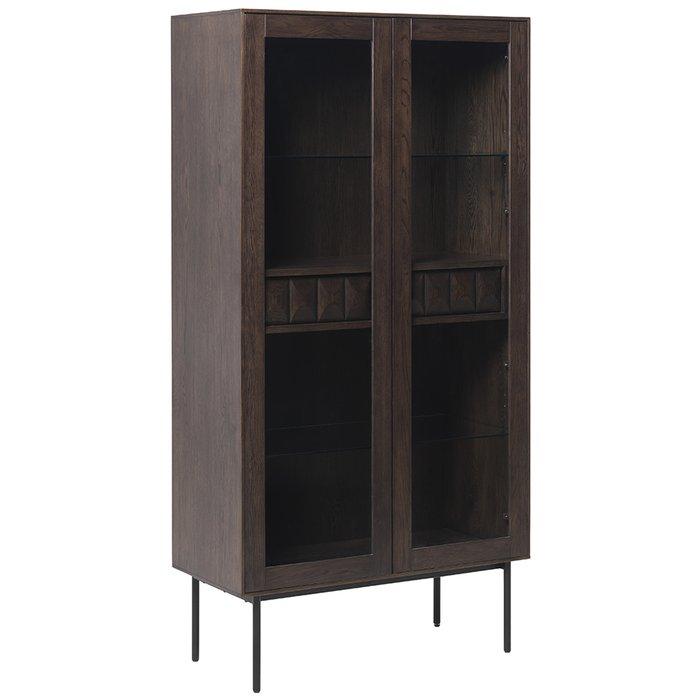 Шкаф для посуды Latina коричневого цвета