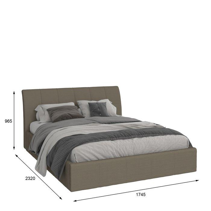 Кровать Инуа 160х200 черного цвета с подъемным механизмом