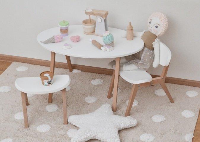 Детский столик Classic белого цвета