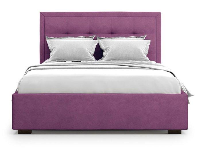 Кровать Komo 160х200 пурпурного цвета с подъемным механизмом