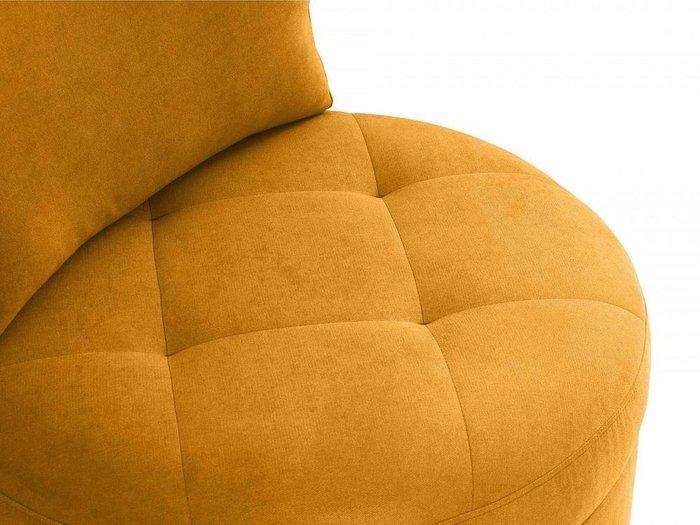 Кресло Wing Round желтого цвета
