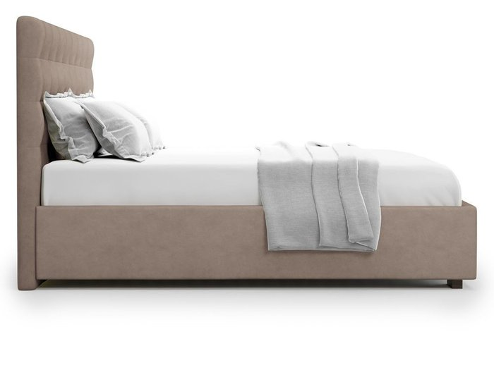 Кровать с подъемным механизмом Brayers 180х200 темно-бежевого цвета