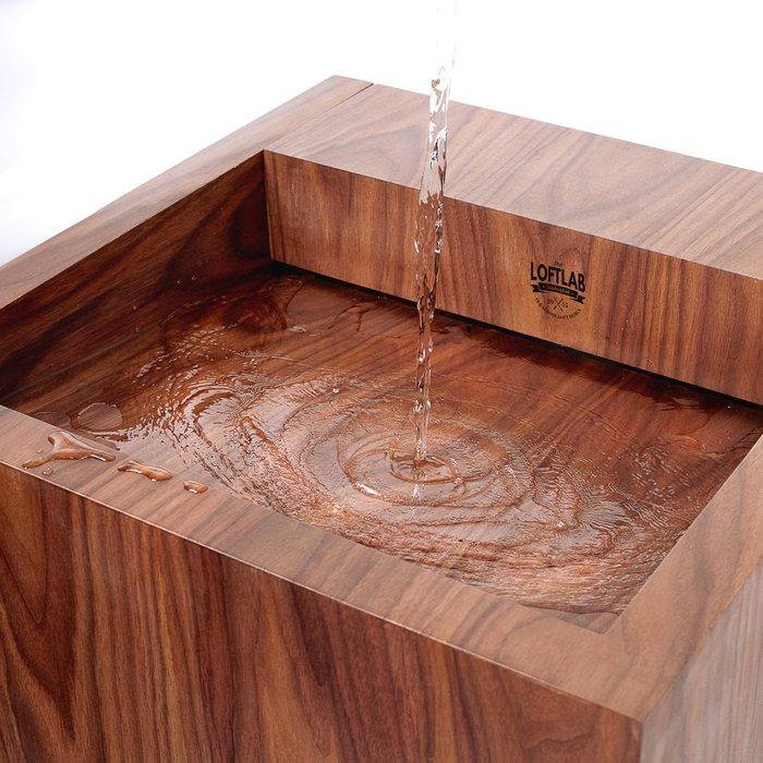 Напольная деревянная раковина Nut 2 коричневого цвета