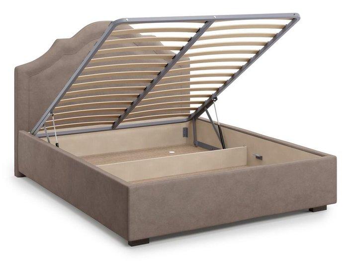 Кровать с подъемным механизмом Madzore 140х200 темно-бежевого цвета