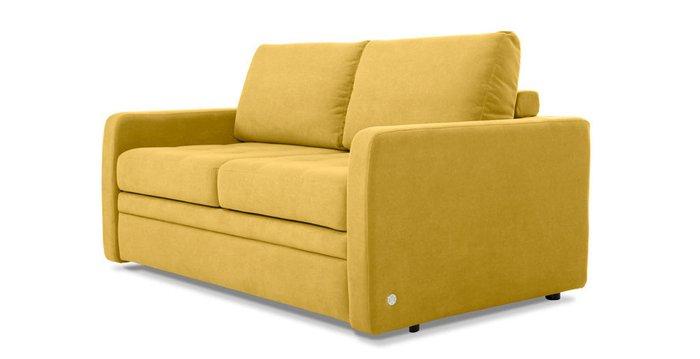 Прямой диван-кровать Бруно желтого цвета