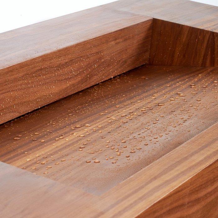 Деревянная раковина Nut 1 коричневого цвета