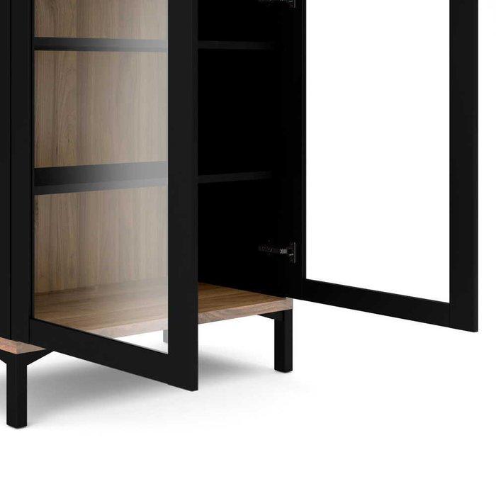 Шкаф-витрина Roomers черного цвета