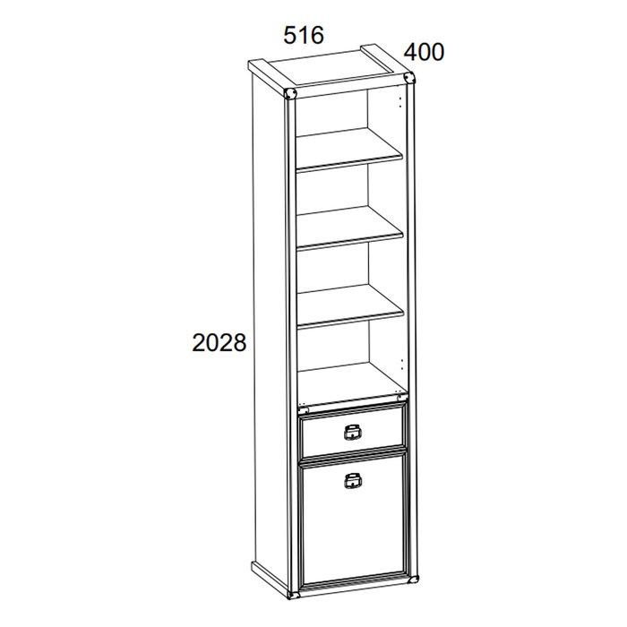 Книжный шкаф Magellan цвета сосна винтаж