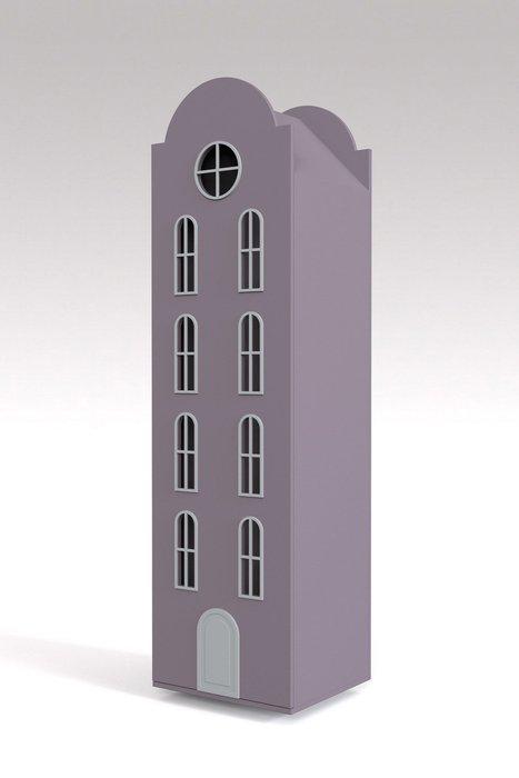 Шкаф-домик Рига Maxi лилового цвета