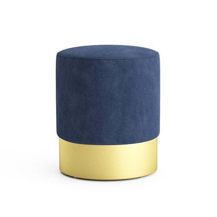 Пуф на золотом основании Domane синего цвета