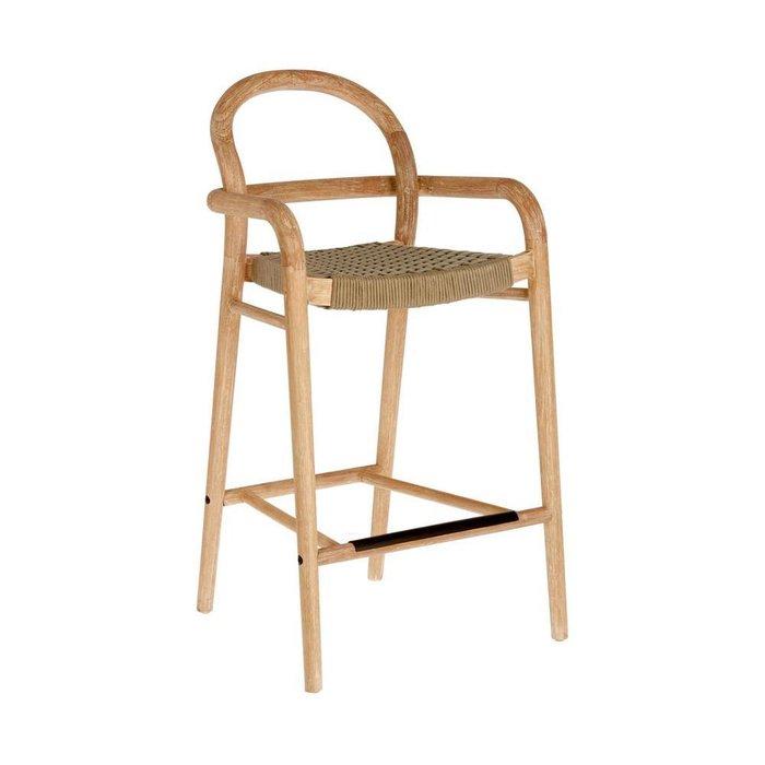 Барный стул Sheryl Beige S из дерева бежевого цвета