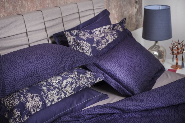 Комплект постельного белья Indigo Dots из сатина