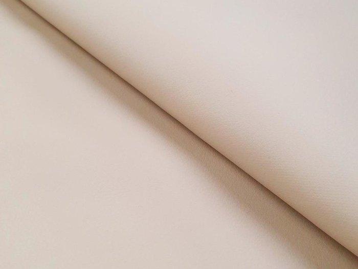 Прямой диван-кровать Сенатор бежево-коричневого цвета (экокожа)