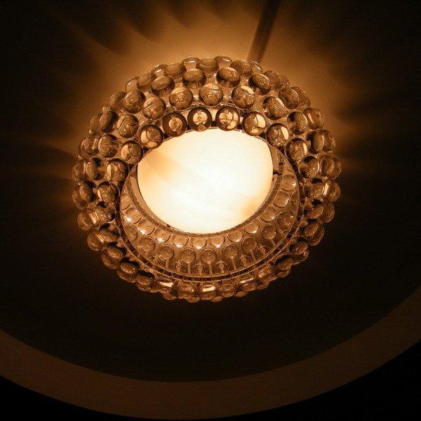 Дизайнерская потолочная люстра Caboche Ceiling crystal light с декоративным плафоном из акрила