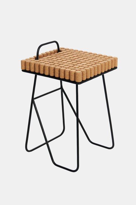 Табурет-столик Cork с металлическими ножками
