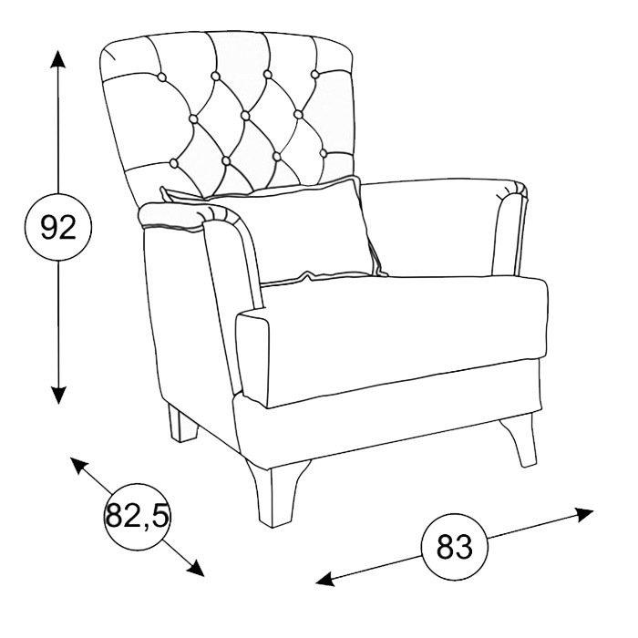 Кресло Ирис синего цвета