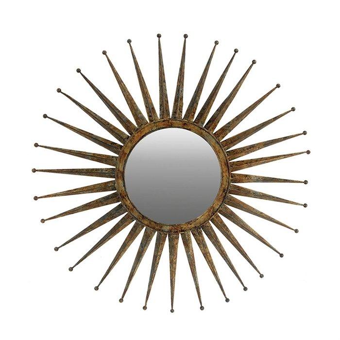 Зеркало с золотой отделкой