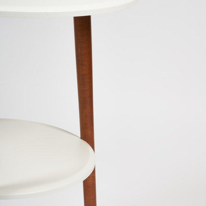 Консоль Floriste бело-коричневого цвета