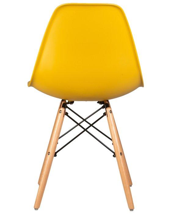 Стул обеденный желтого цвета