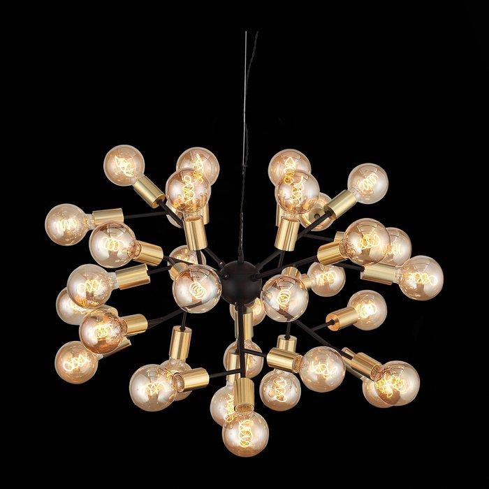 Подвесная люстра Foglione черно-золотого цвета