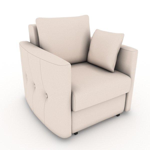 Кресло-кровать Luna бежевого цвета