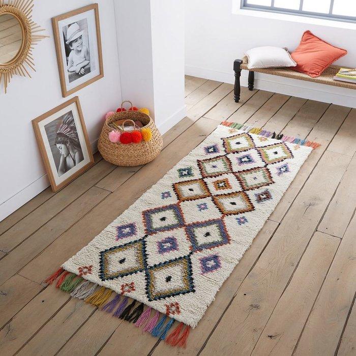 Ковер Ourika для коридора в берберском стиле разноцветный 80x250