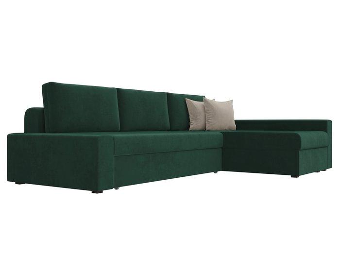 Угловой диван-кровать Версаль зеленого цвета