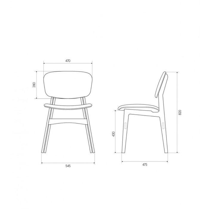 Мягкий стул Sid с зеленой обивкой