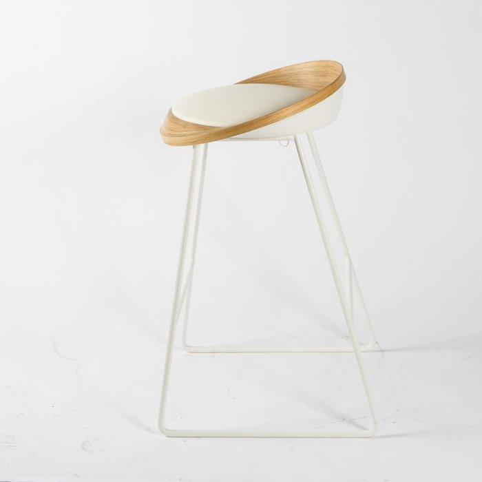 Барный стул Roe дуб белый