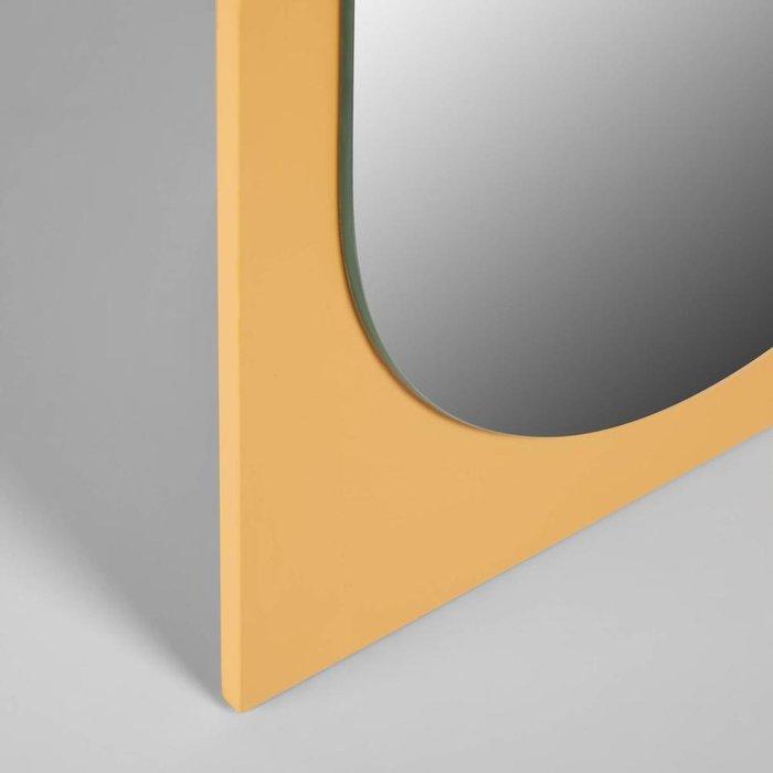 Настольное зеркало Mica желтого цвета