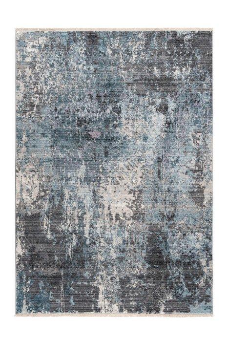 Дизайнерский ковер Medellin Silver Blue серо-синего цвета 200х290