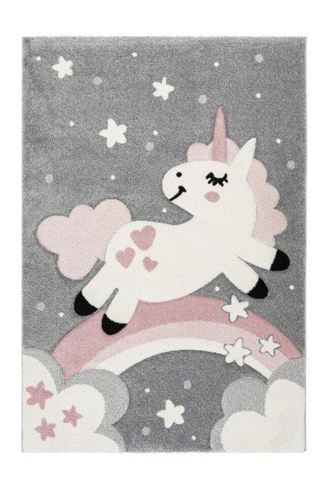 Детский ковер Amigo Unicorn Pink розового цвета 80х150