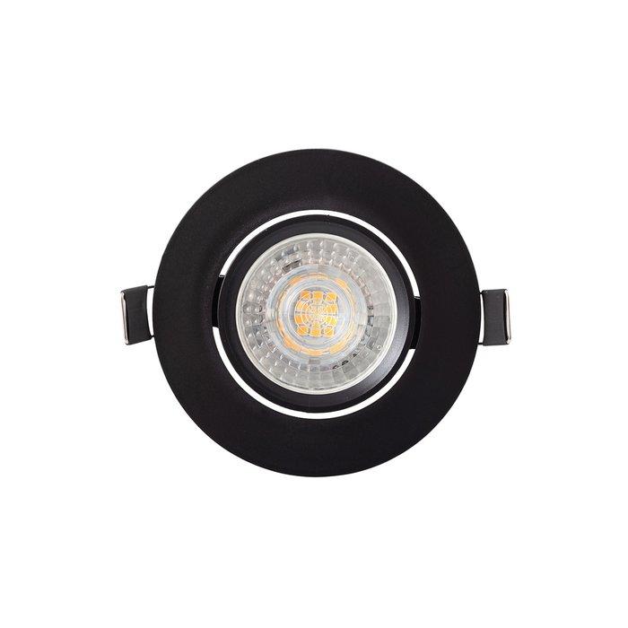 Точечный встраиваемый светильник черного цвета