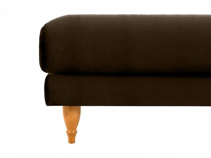 Пуф Italia темно-коричневого цвета