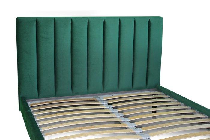 Кровать Клэр 180х200 зеленого цвета с подъемным механизмом
