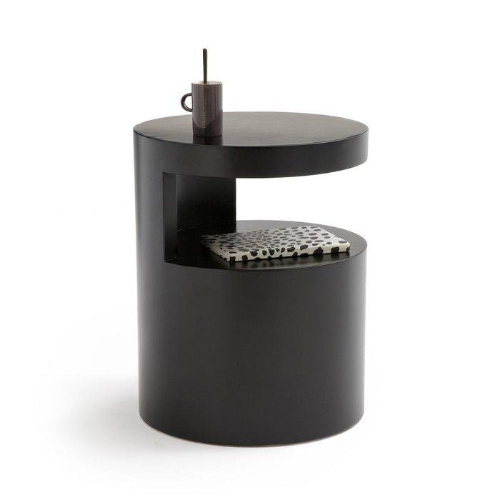 Столик цилиндрической формы Newark черного цвета