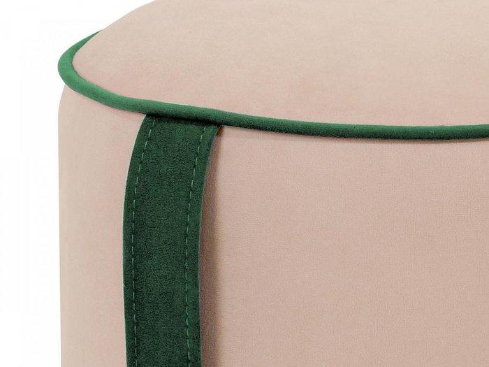 Пуф Drum Handle с ручкой зеленого цвета