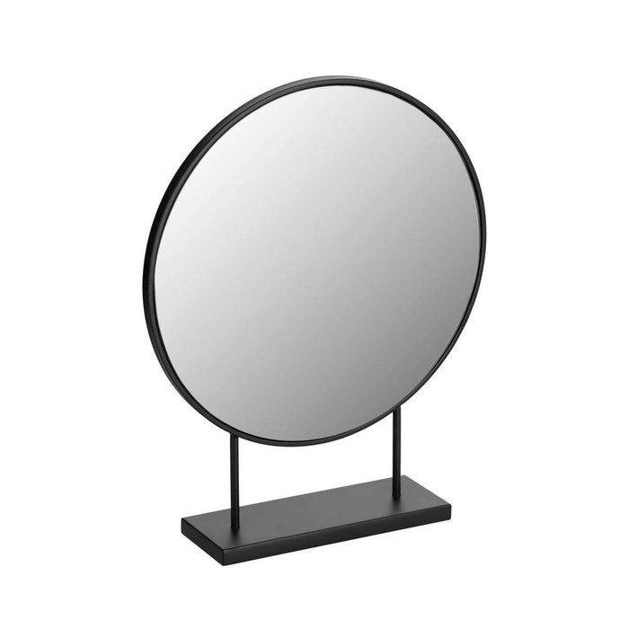 Настольное зеркало Libia в раме черного цвета