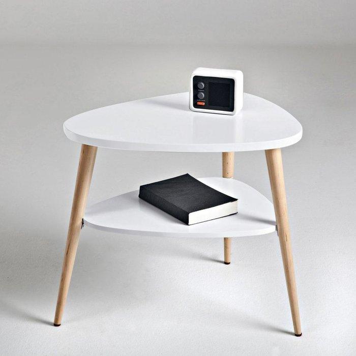 Прикроватный столик Jimi белого цвета